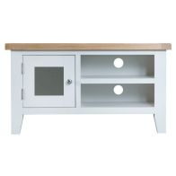 See more information about the Lighthouse Oak Top 1 Door TV Cabinet White