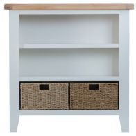 See more information about the Lighthouse Oak Top Small Wide 3 Shelf Bookcase - Grey