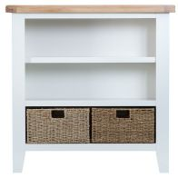 See more information about the Lighthouse Oak Top Small Wide Bookcase White
