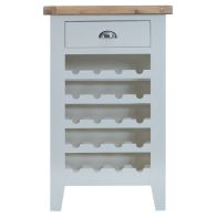See more information about the Lighthouse Oak Top 1 Drawer Wine Cabinet Grey