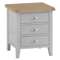 See more information about the Lighthouse Large Bedside Bedside Grey & Oak 3 Drawers