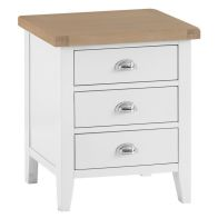 See more information about the Lighthouse Large Bedside Bedside Oak & White 3 Drawers