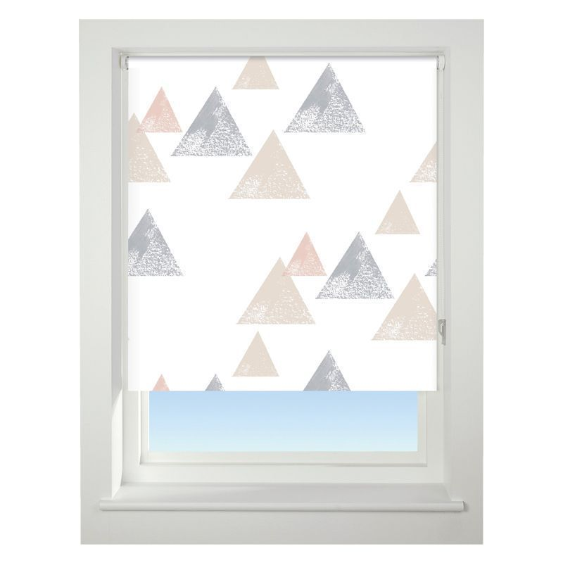 Universal 60cm Neutral Textured Triangle Blackout Roller Blind