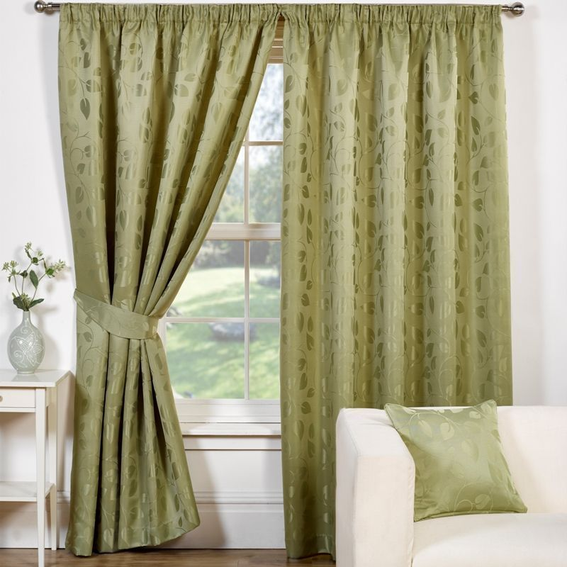 Trieste Curtains 90 Width X 90 Drop Green Buy Online At Qd Stores