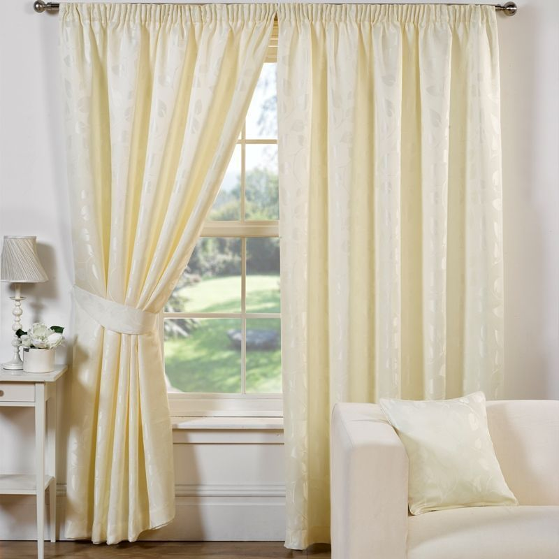 "Trieste Curtains (66"" Width x 90"" Drop) - Natural"
