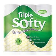 See more information about the 9 Pack of Triple Soft White 3 Ply Toilet Tissue