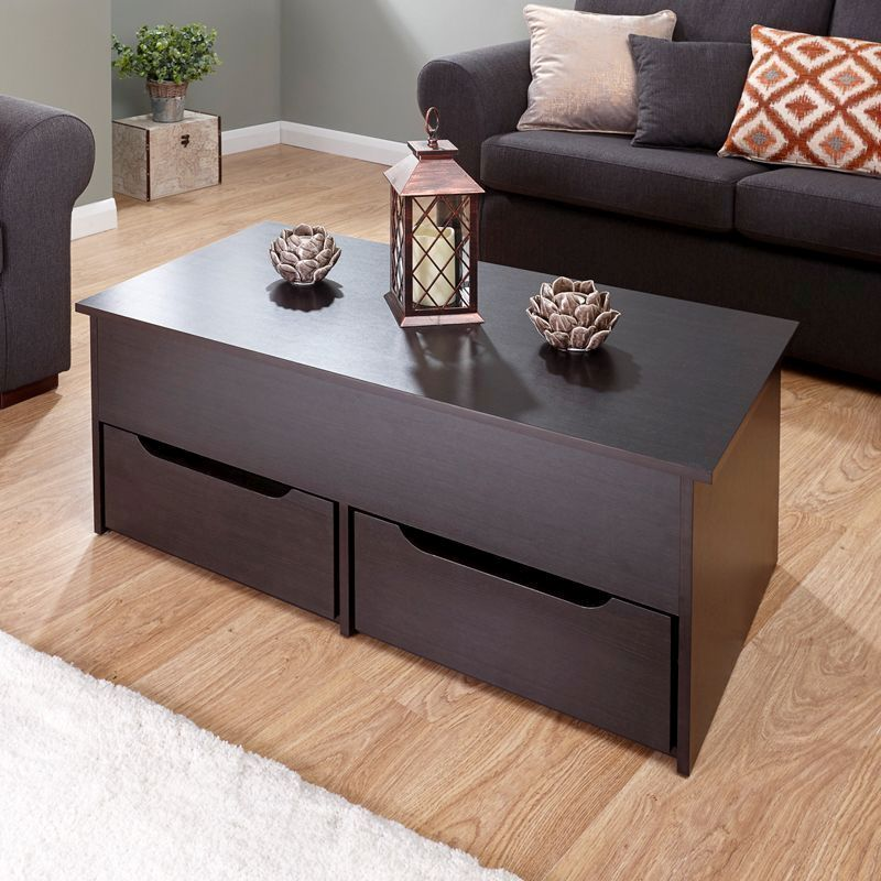 Harper Lift Up Coffee Table Brown Buy Online At Qd Stores