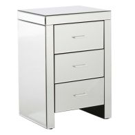 See more information about the Venetian Bedside Mirrored 3 Drawers Large