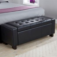 See more information about the Verona Storage Ottoman Black & Faux Leather