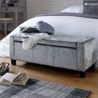 See more information about the Verona Grey Crushed Velvet Ottoman Storage Bench
