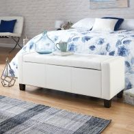 See more information about the Verona Storage Ottoman White & Faux Leather