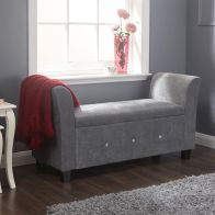 See more information about the Verona Window Seat Grey & Chenille With Storage
