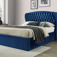 See more information about the Warwick Double Ottoman Bed Blue