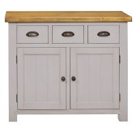 See more information about the Dovetale Oak 3 Drawer 2 Door Sideboard