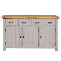 See more information about the Dovetale Oak 4 Drawer 3 Door Sideboard Unit
