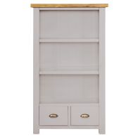 See more information about the Dovetale Oak 2 Drawer 3 Shelf Bookcase (150cm)