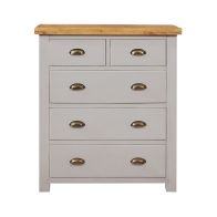 See more information about the Dovetale Oak Chest 5 Drawers (2 Over 3)