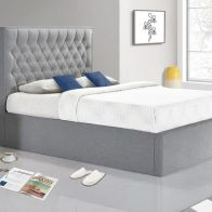 See more information about the Wilson Double Ottoman Bed Grey