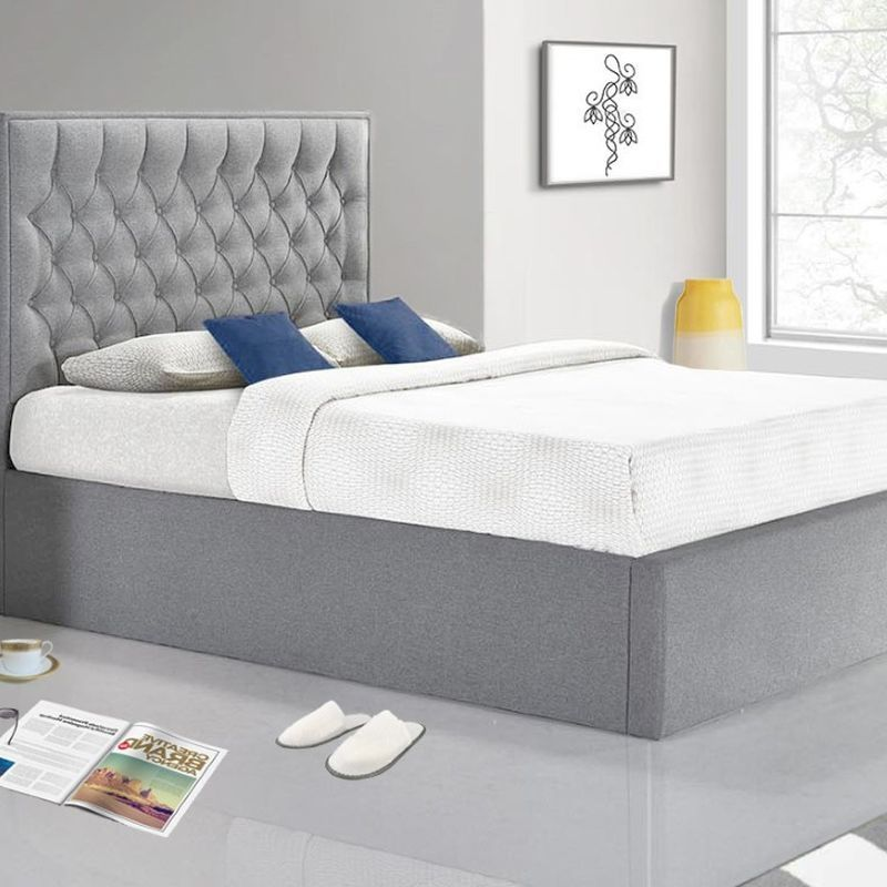Groovy Wilson King Size Ottoman Bed Grey Machost Co Dining Chair Design Ideas Machostcouk