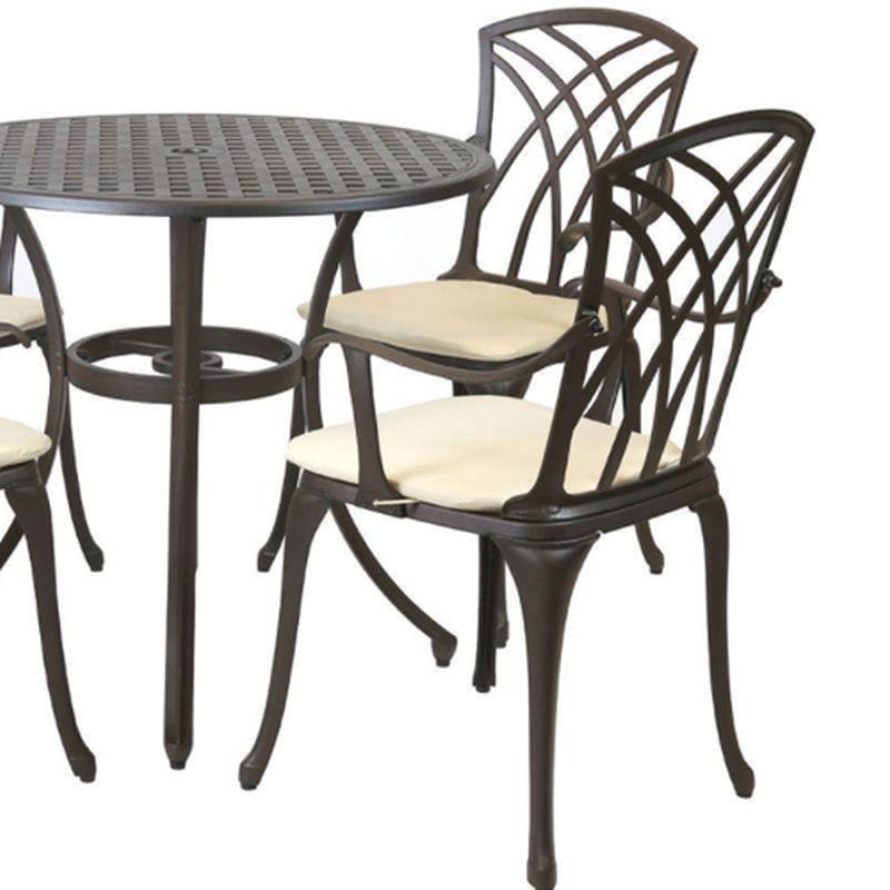 4 Seater Metal Cast Aluminium Garden Furniture Patio Set ...