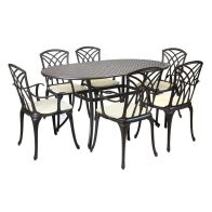See more information about the Cast Aluminium 7 Piece Garden Patio Furniture Set with Cushions