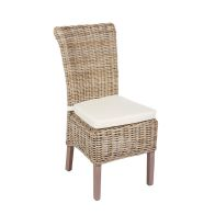 See more information about the Rivera Willow Wicker Chair & Cushion