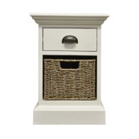 See more information about the Rivera Willow 1 Basket 1 Drawer Chest White