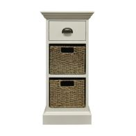See more information about the Rivera Willow 2 Basket 1 Drawer Chest White