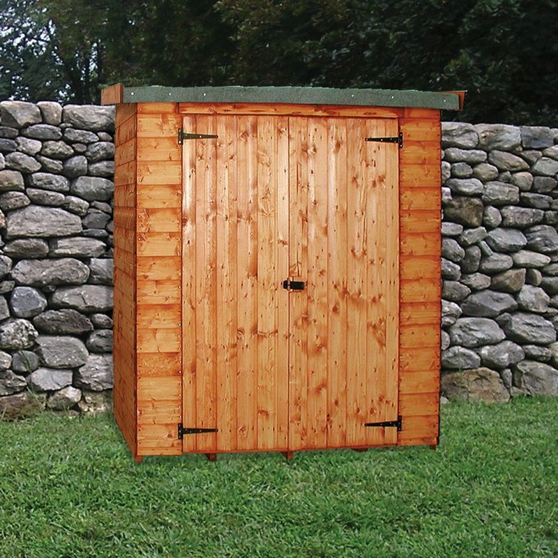 Albany Wallshed Garden Shed Brown 6' x 2'6""