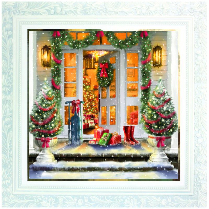 10 Deluxe Christmas Cards Front Door Buy Online At Qd
