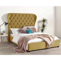 See more information about the Zurich Wing Back Double Bed Gold