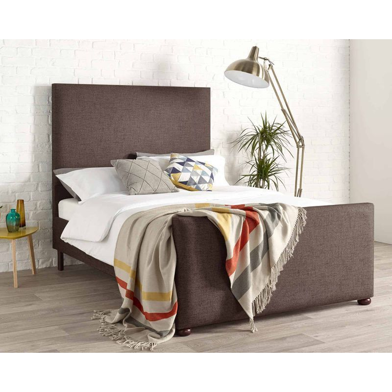 Bronte Knit Brown 4ft 6in Double Bed Frame