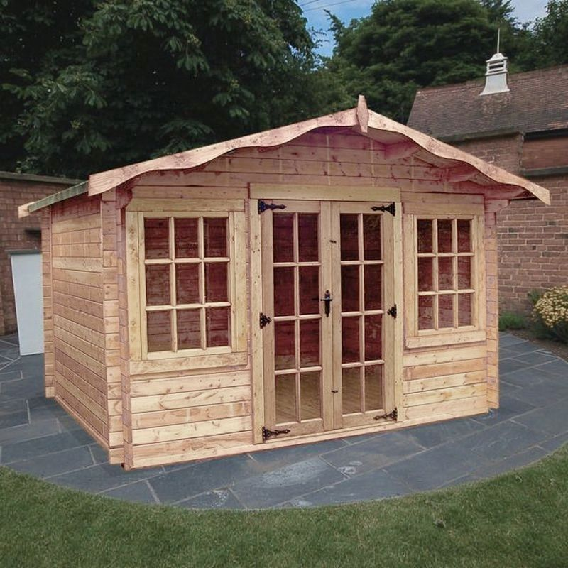 Albany Sheds Charnwood 12' x 8' Apex Wood Garden Summer House