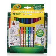 See more information about the Crayola Markers and Activities Collection (20 Markers)