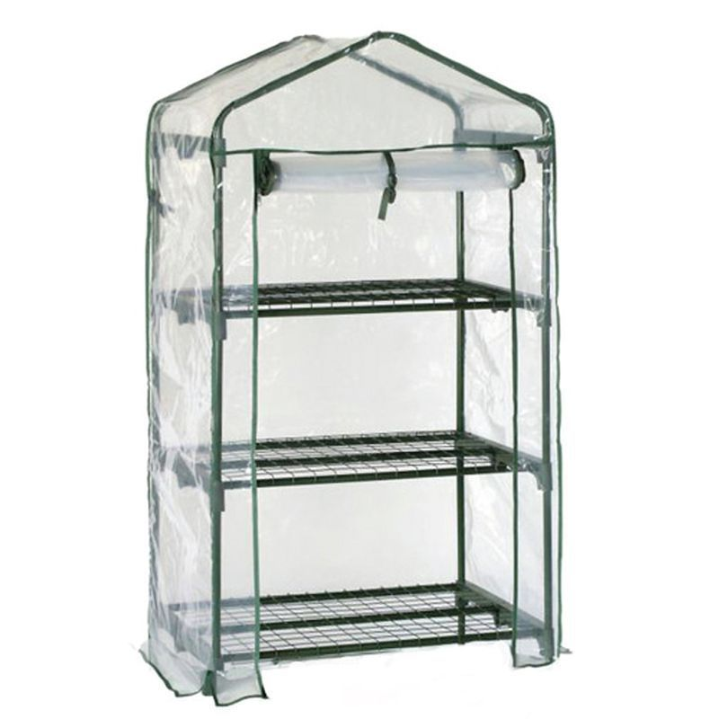 Growing Patch Greenhouse 3 Tier Mini Garden Cold Frame Shelving Roll ...