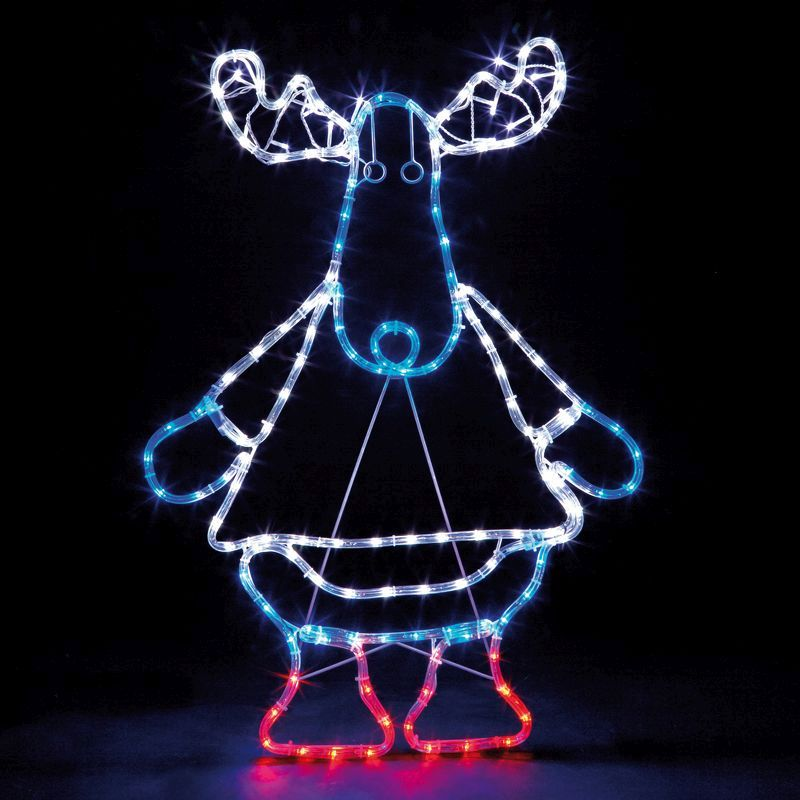 Outdoor Christmas Decorations Cute Reindeer LED Xmas Rope Lights EBay