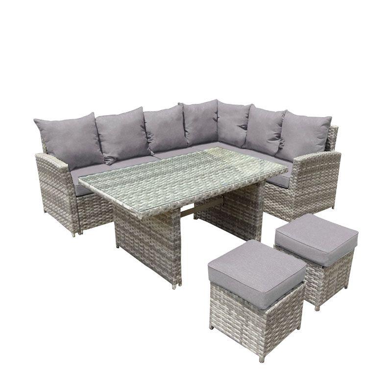 Garden Furniture Corner Sofa rattan corner sofa stool set summer garden patio furniture monaco