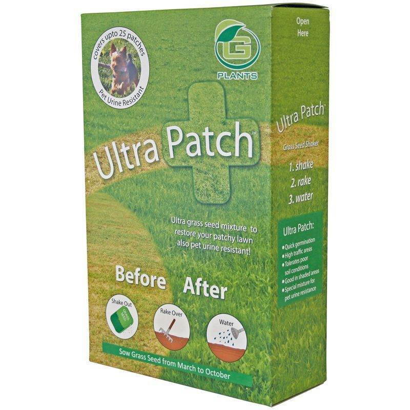 1kg G Plants Ultra Patch Grass Seed Lawn Repair 28 Sq Meters Coverage