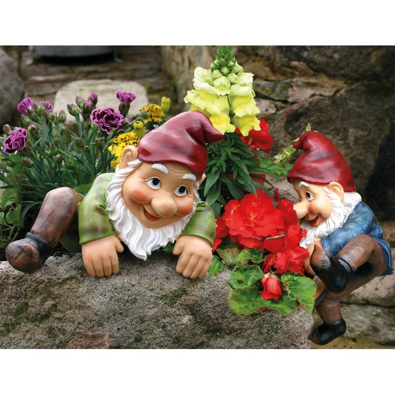 Billy Barry Climbing Garden Gnomes Buy Online At Qd Stores