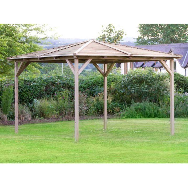 Knutsford Wooden Garden Pavilion 2.4M £889 at QD Stores
