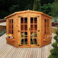 See more information about the Albany Sheds Lincoln 6' x 6' Corner Shiplap Wood Garden Summer House