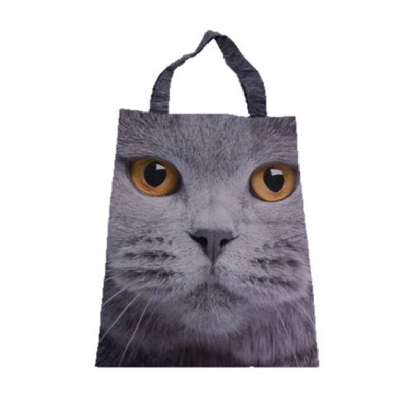 Photographic Animal Shopper - Grey Cat