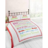 See more information about the Red & Green Sweet Dreams King Duvet Set