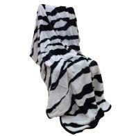 150x200cm Zebra Print Throw