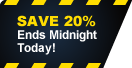 Save 20% - end midnight today