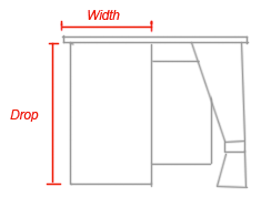 curtain size information